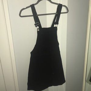 NWT Forever 21 Black Overall Dress with Pockets
